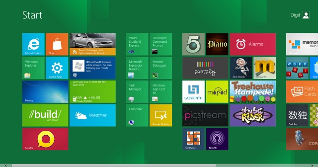 Windows 8 Tile Screen