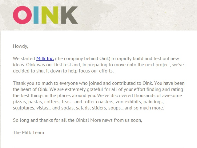 Kevin Rose's Oink Shuts Down after 5 months