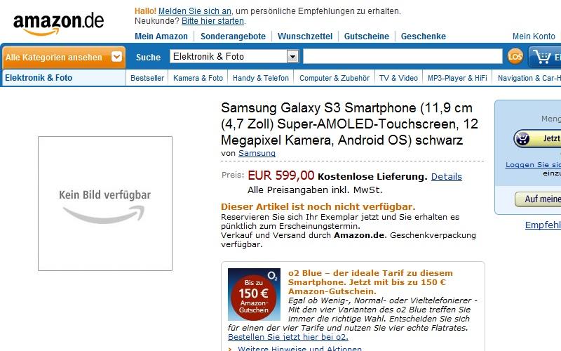 Samsung Galaxy S III Shows Up On Amazon Deutsch