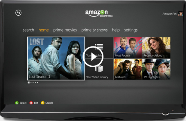 Amazon Instant Video App Now Available for the Xbox 360