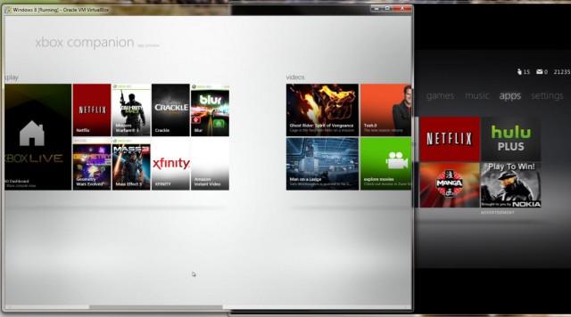 Windows 8 Xbox Companion Preview