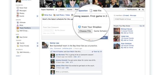Dropbox Facebook Add File