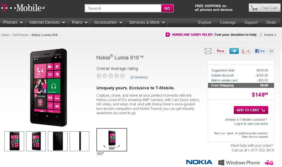 T-Mobile Launches the Nokia Lumia 810