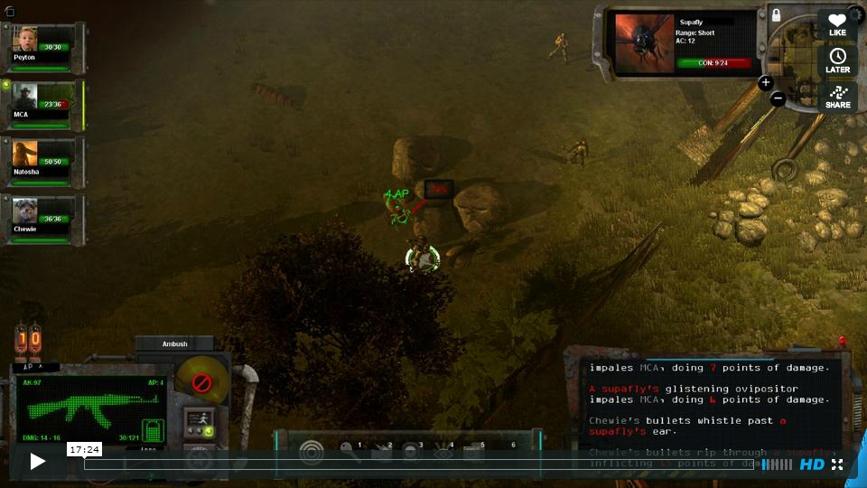 17 minutes of Early Gameplay Footage of Wasteland 2 Released