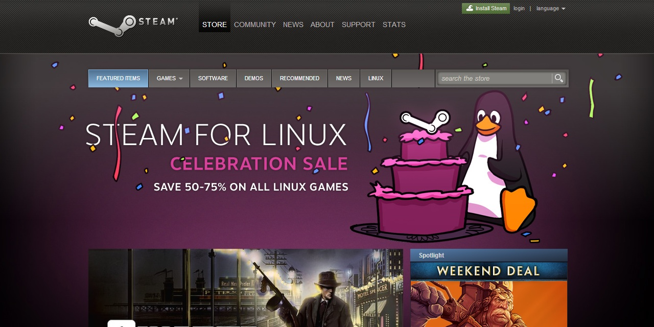 Steam For Linux Officially Released – Steam Sale & Free Penguin for TF2
