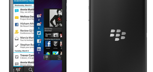 BlackBerry Z10 Black Front and Back