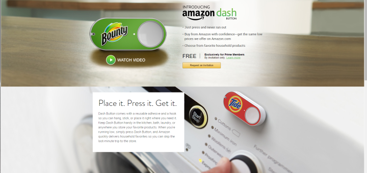 Amazon Dash Button Website